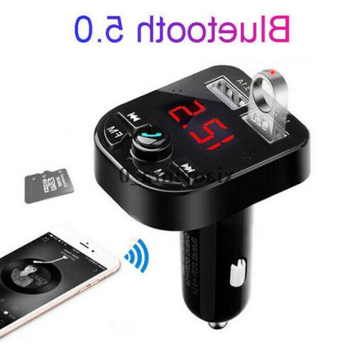 US Bluetooth Charger FM Transmitter Radio Player