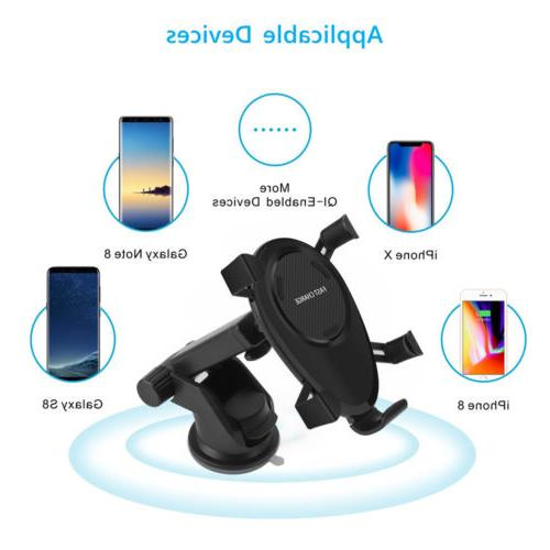 US Car Charger Wireless Mount Vehicle Charging Stand for XR XSMAX