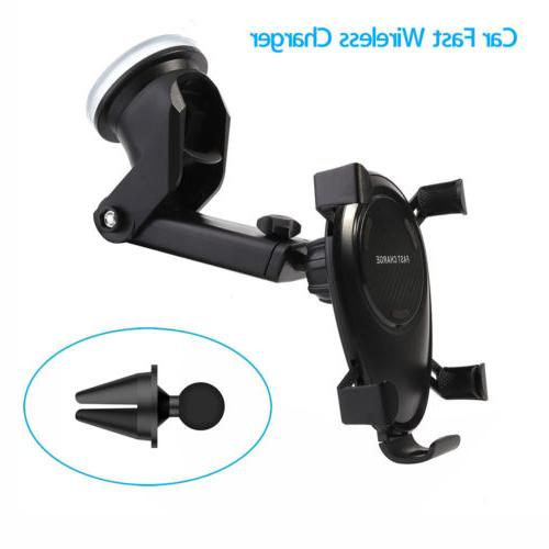 us car charger qi wireless mount vehicle