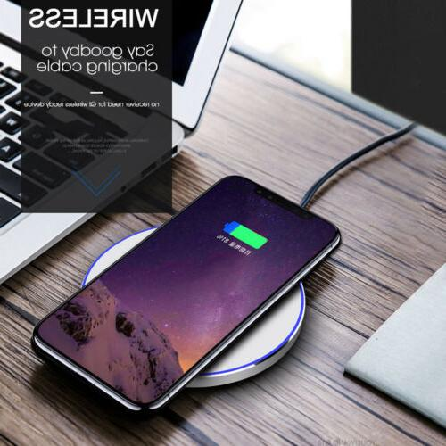 US Fast Wireless Charging Mat For Samsung iPhone 8 X