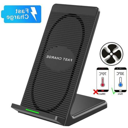 Qi Wireless Charging Charger Dock Stand With Cooling Fan For