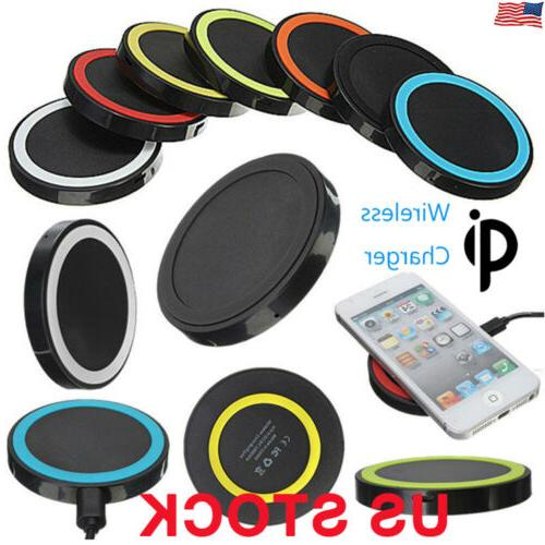 US Universal Qi Wireless Charger Dock Charging Pad Mobile Ph