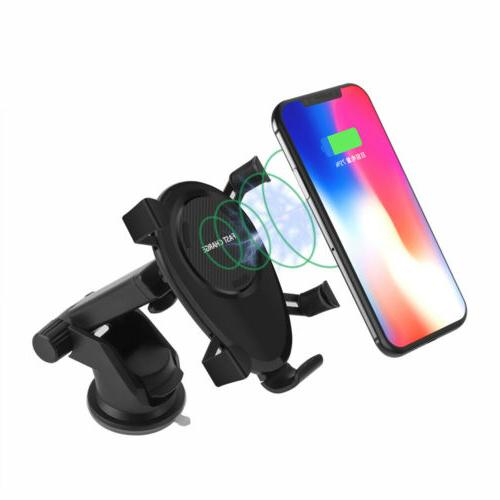 US Qi 10W Car Holder For iPhone 8 Samsung 10 9