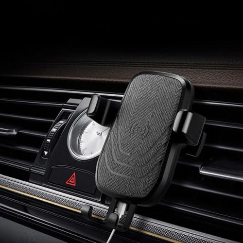 USA FDGAO Qi Wireless Fast Charger Charging Car Holder Cradl
