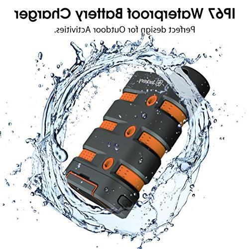 Waterproof Charger Charger, Jackery Bank 9000mAh External Battery with Emergency LED Camping, Hiking Other