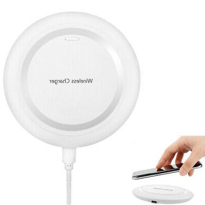 white qi wireless charger charging pad