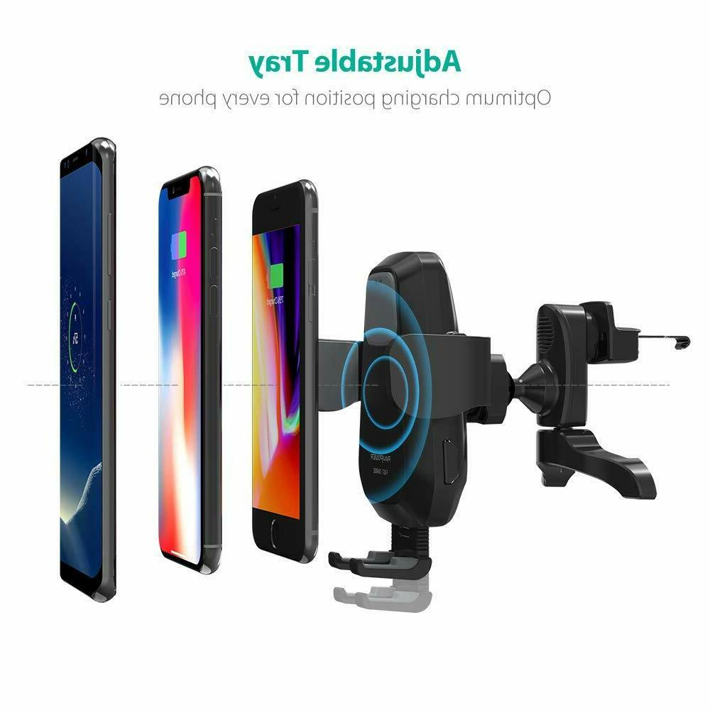 RAVPower Wireless Car Charger Mount Automatic Phone