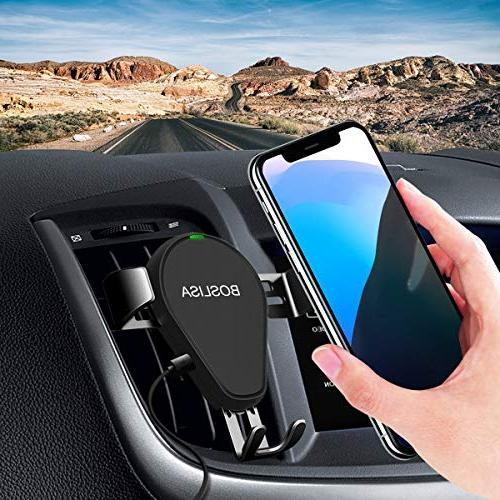 Wireless Car Charger, Qi Charger Car Mount with Vent Holder, Compatible iPhone Xs Samsung S9/8/7/Note 8/9 and