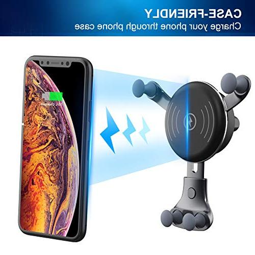 BESTHING Charger, Wireless Air Vent 10W Compatible Samsung S9/S9+/S8/S8+/Note Compatible iPhone Max/Xs/ XR/X/ 8/8 Plus