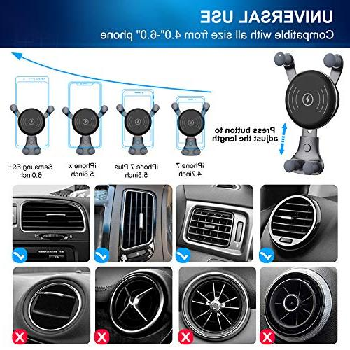 BESTHING 10W Charger, Wireless Fast Car Air Vent 10W Samsung S9/S9+/S8/S8+/Note iPhone Xs XR/X/ 8/8