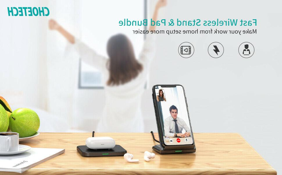 CHOETECH Wireless Charger Qi-Certified Max Fast Wireless