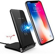 Wireless Charger, Amoner iPhone X Wireless Charger, 10W Fast
