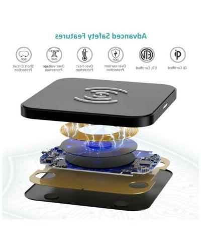 CHOETECH Wireless Charger, Qi Certified Fast Charging