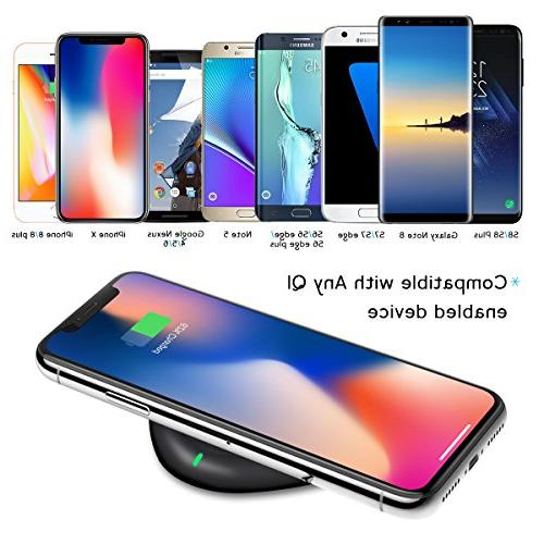 Wireless Qi Certified Wireless Charging iPhone Plus, Galaxy Plus/Note 8/S8/S8 Edge/Note 5