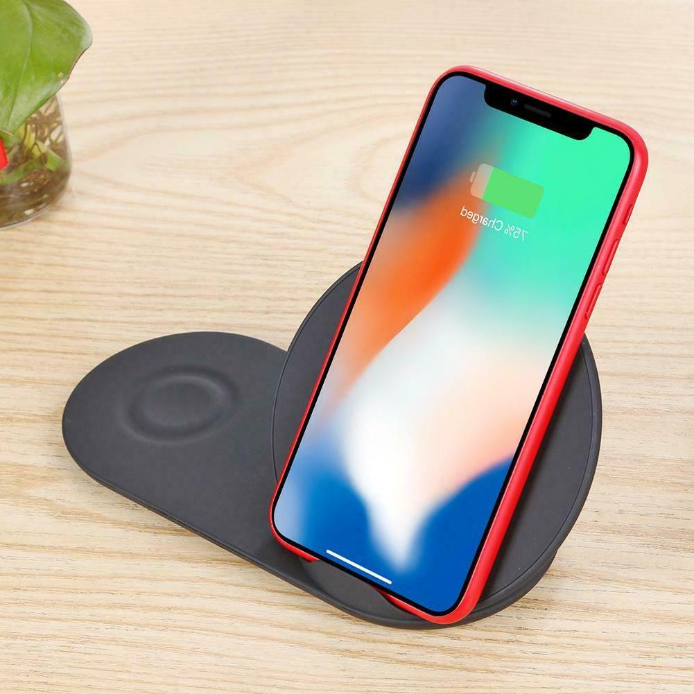 Wireless Charger Fast Stand Dock Galaxy + Watch