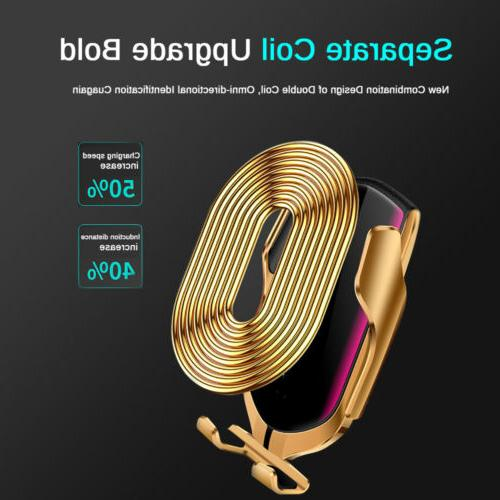 Rotate Wireless Car Charger Magnetic Mount For iPhone X 8 7