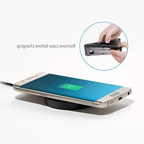 Anker Wireless Charger Pad Compatible Max/XR / XS/X / / S6 / S6 Plus, Nexus 4/5 6/7, LG Other Devices