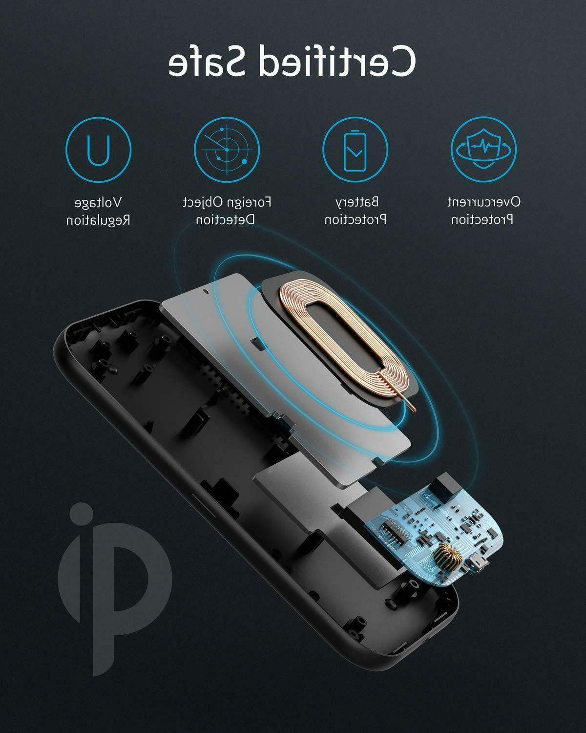Anker Charger, PowerWave Base Pad, Qi-Certified, for iPhone