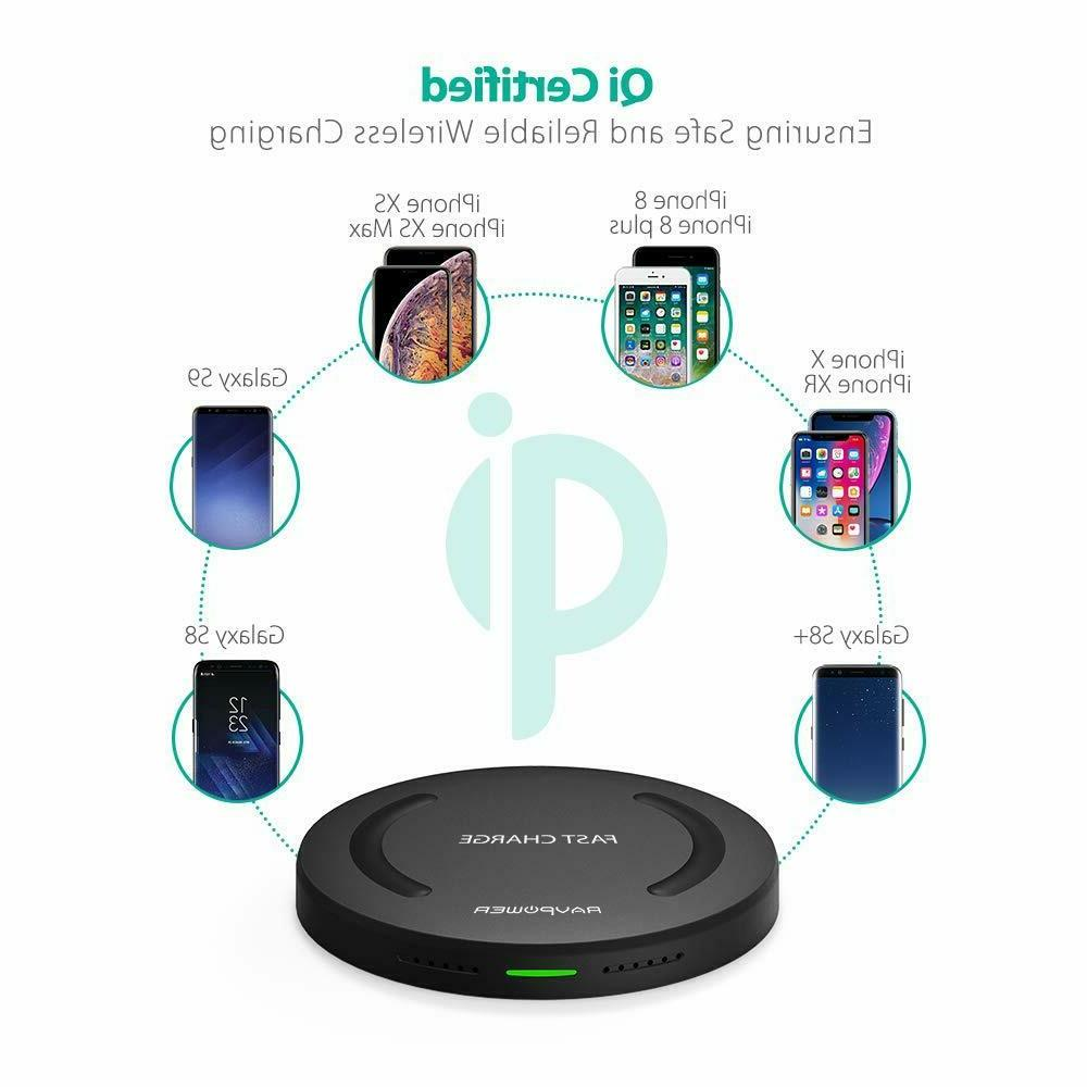 Wireless RAVPower Qi-Certified 10W Fast Quick Charger