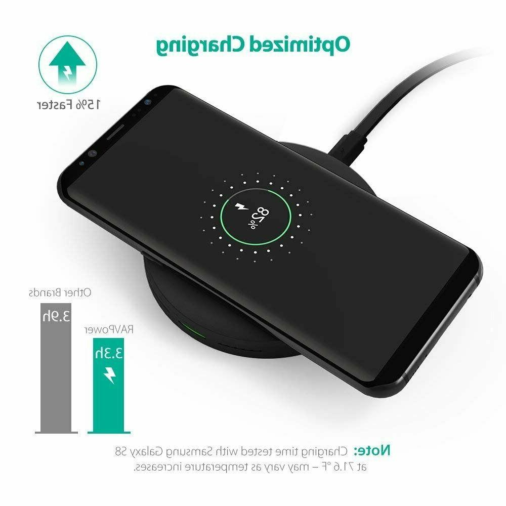 wireless charger qi certified 10w fast charging