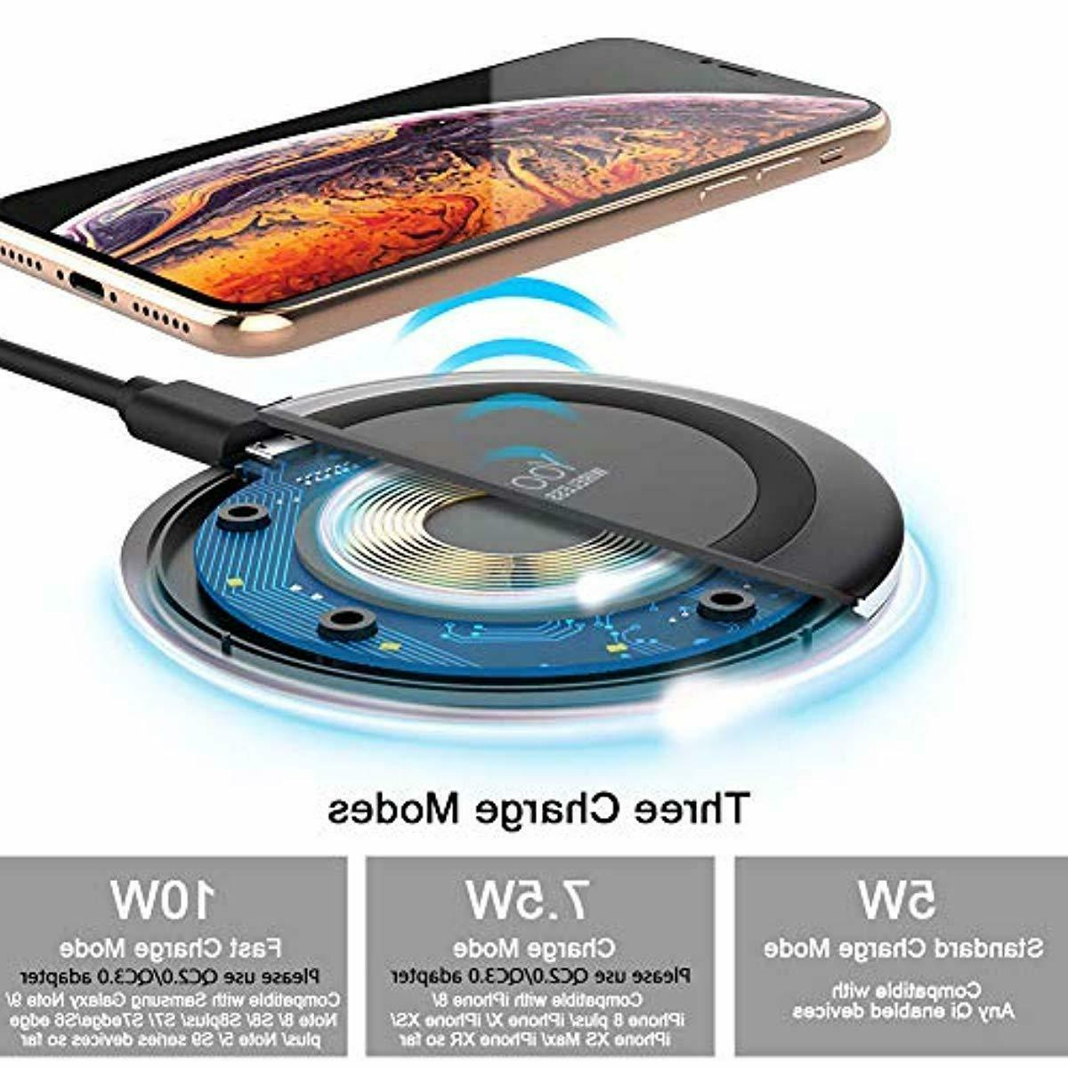 Yootech Wireless Charger Qi-Certified 10W Fast Wireless Char