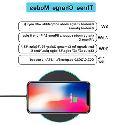 Wireless Charger, Wireless iPhone Compatible 9/S9/S9 Qi-Enabled Phones