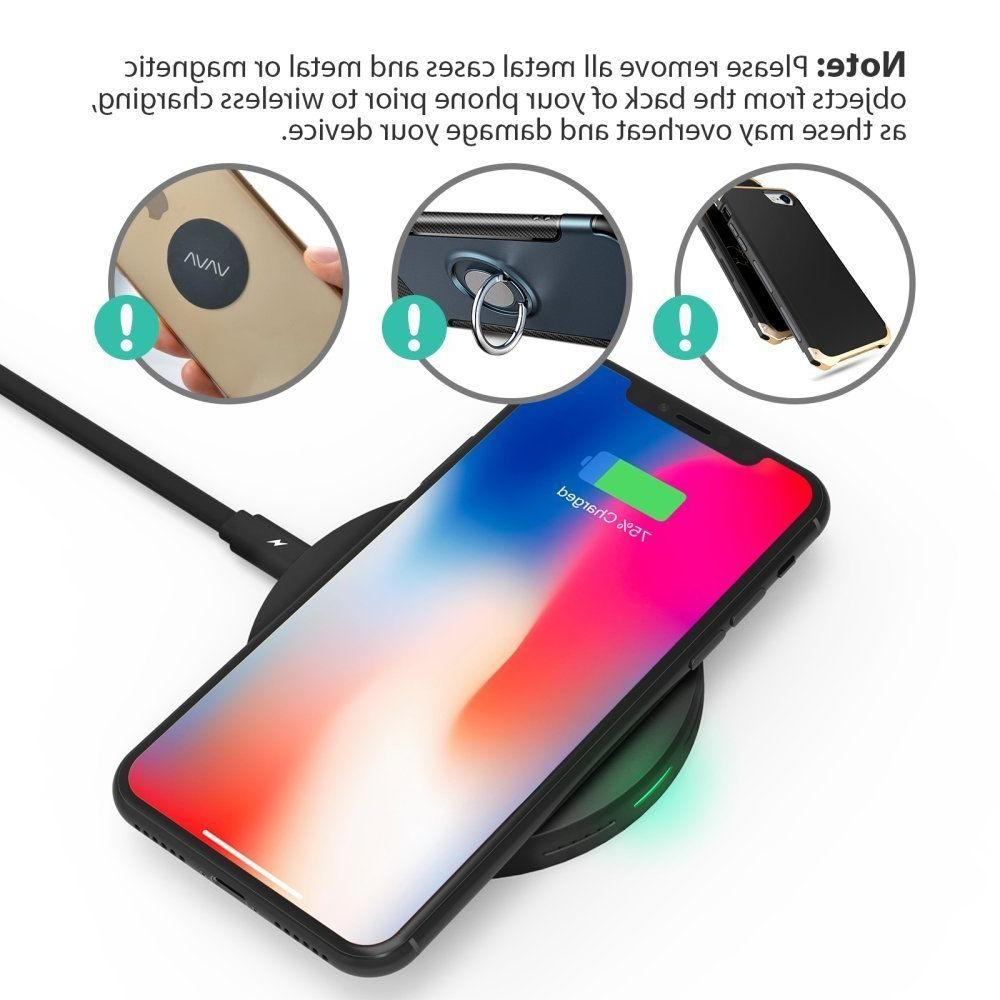 Wireless Charger Qi-Certified Fast Wireless Charging Pad Quick Charge