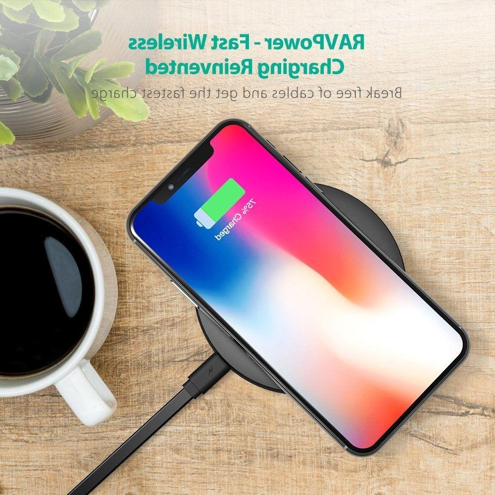 Wireless Charger RAVPower Qi-Certified Fast Wireless Charging Pad Quick