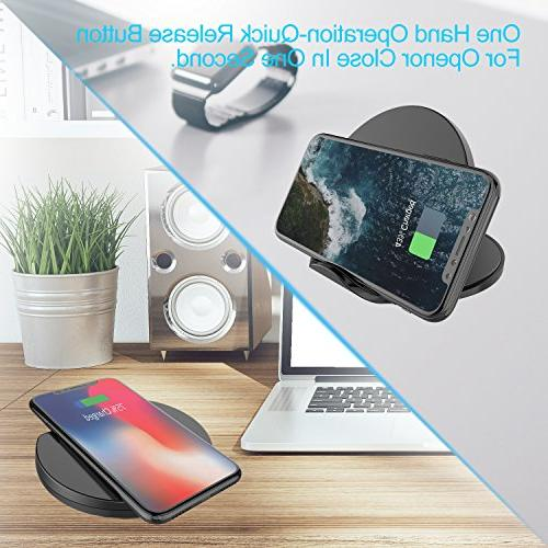Squish Wireless Certified Wireless Charging & 7.5W iPhone Xs Plus and Galaxy S9/S9 Plus Wireless (No AC