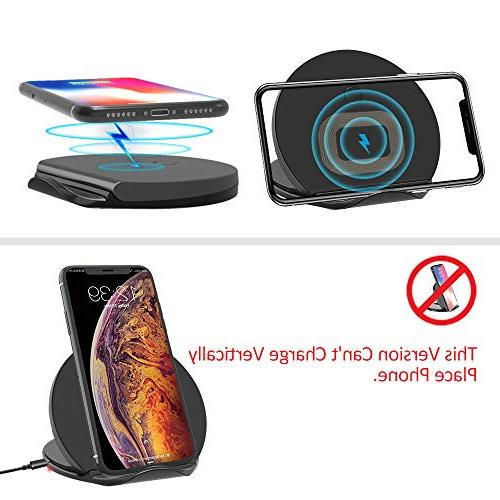 Squish Wireless Charger, Certified Charging Pad & iPhone Xs Plus and 10W Galaxy Plus/Note Plus (No AC