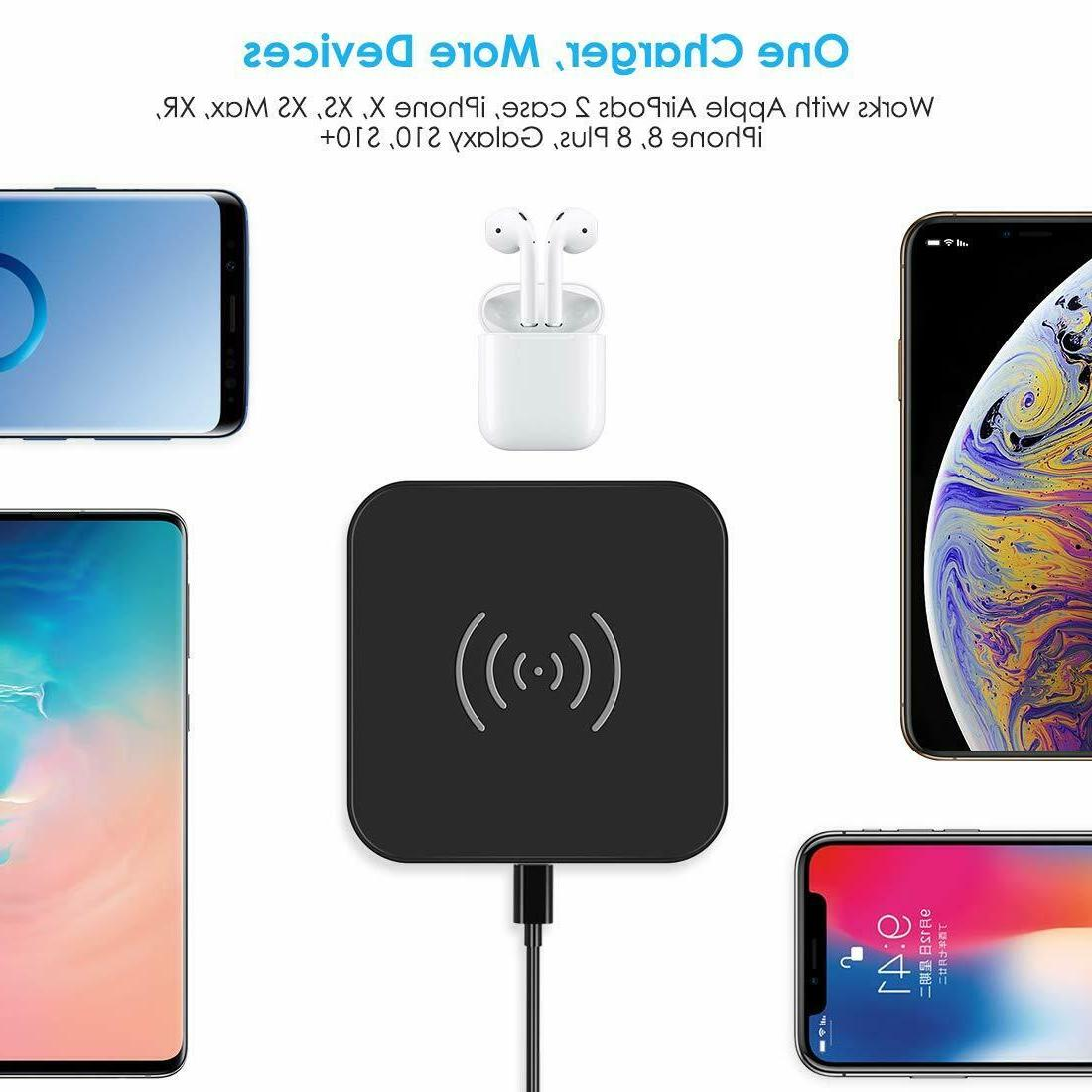 CHOETECH Wireless Charger, Qi Certified Compatible iP