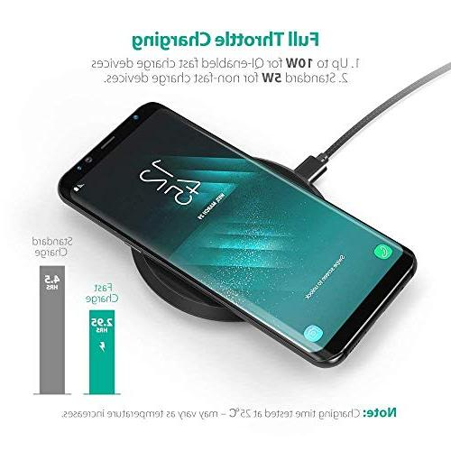 Wireless Qi Certified 10W Fast S9+ S9 Compatible iPhone 8 Plus Qi-Enabled Phones