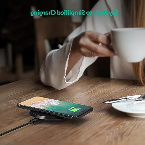 Wireless Charger Certified Fast Charging S9+ S9 Compatible X Plus 8 Qi-Enabled