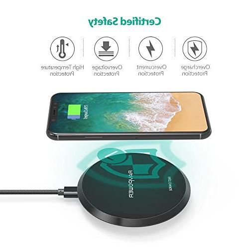 Wireless Charger Certified 10W Charging Pad S9+ 8, Compatible X Plus Qi-Enabled