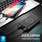 WIRELESS Charger Qi PORTABLE Power Bank External Charger For