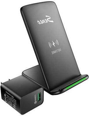 Wireless Charger, Seneo Upgraded with QC 3.0 Adapter 10W Fas