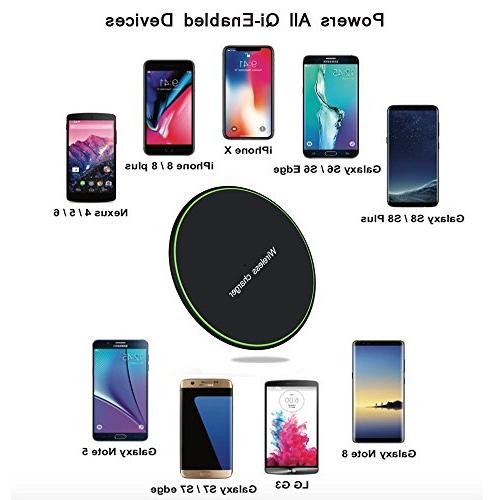 Compatible with Plus, Wireless Charger Pad s8/s9/s9 Plus/Note 8/7/s7/s7 and