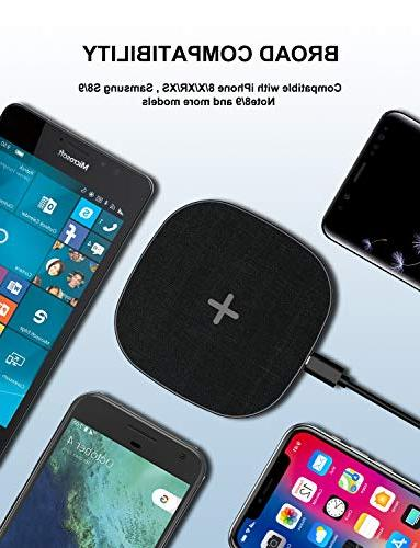 Wireless Fast Charger 7.5W Compatible for Stainless Steel, All Qi-Enabled Devices No Adapter