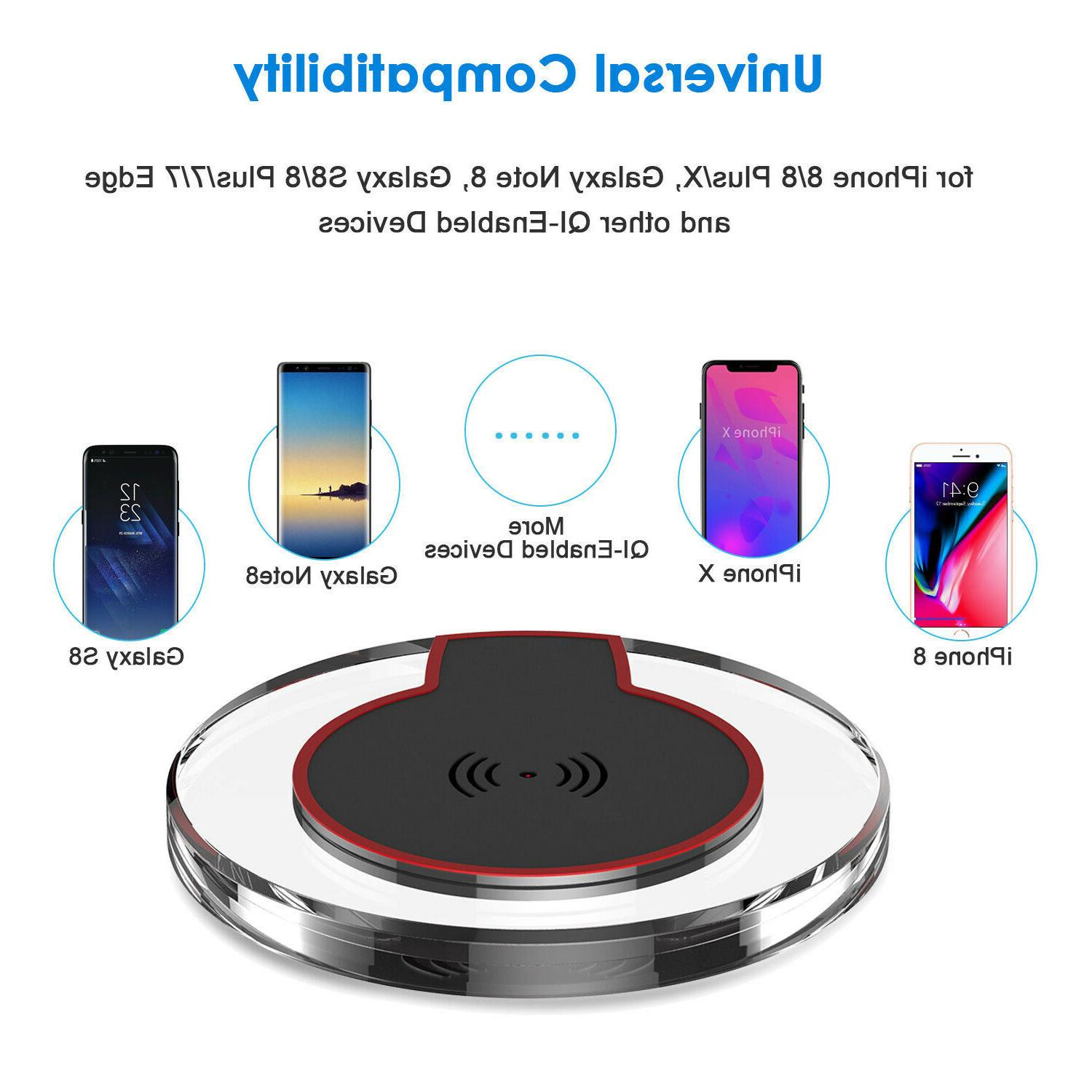 Qi Wireless Charging Pad Charger for S8+ S7 S6