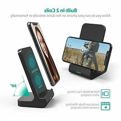Wireless 2 Coils Qi Fast Charger