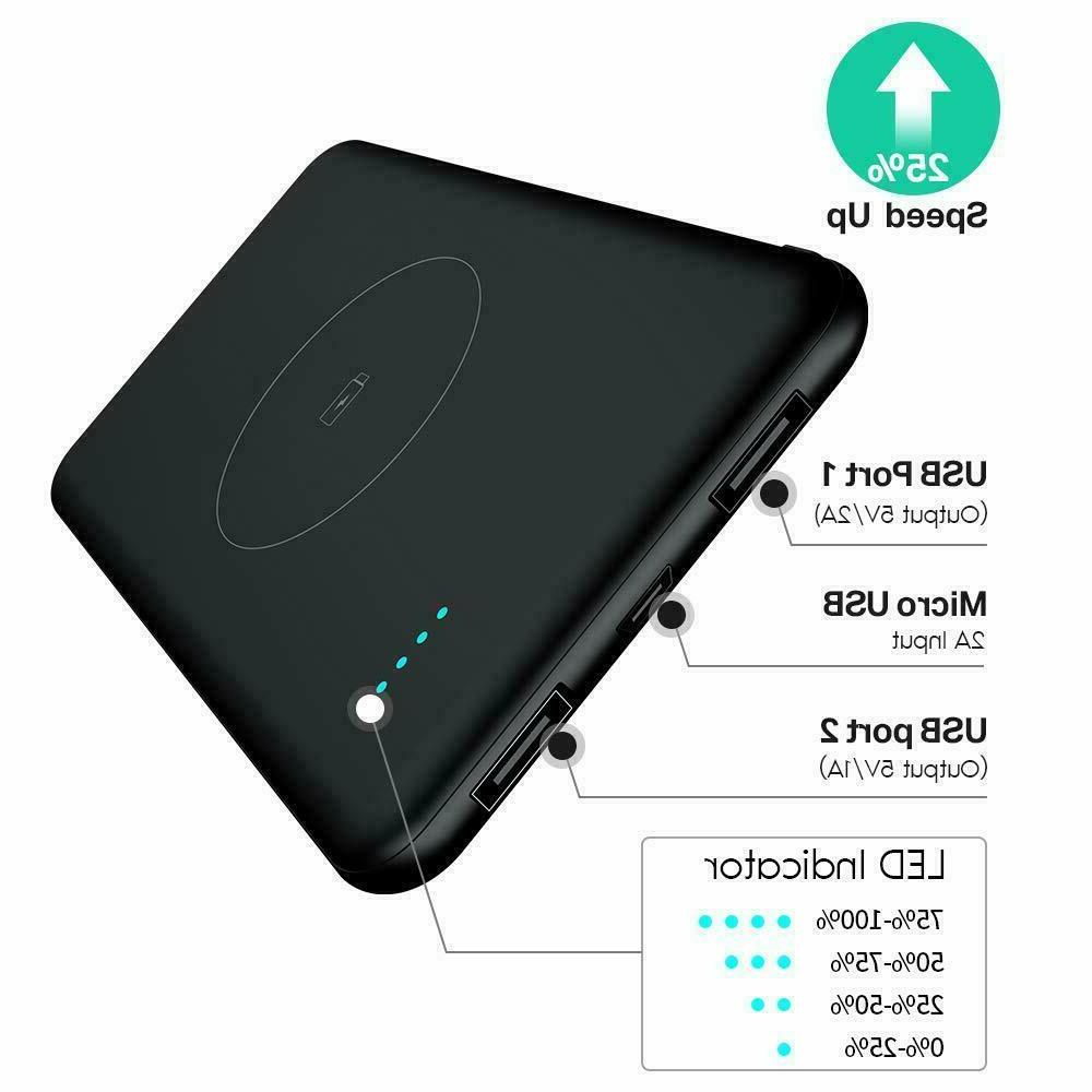 Wireless Charger,TOVAOON Wireless Power Bank Fast