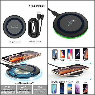 Wireless QI-Enabled Phone Charger LED Indicator Case-Friendl