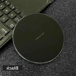 LED Qi Wireless Fast Charger Pad Dock For iPhone 12 8 Plus i
