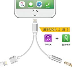 Lightning to 3.5mm Aux Headphone Audio Adapter for iphone 7/