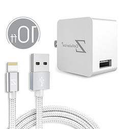 10ft Lightning Cable, Cellularize 10ft iPhone Charger Braide