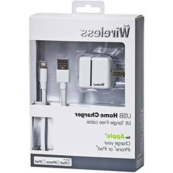 Just Wireless Lightning Wall Charger, White