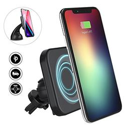 Magnetic QI Wireless Car Charger Mount, Fast Wireless Charge