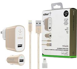 Belkin Metallic Mixit -12W 2.4Amp Fast Charging - Home & Car