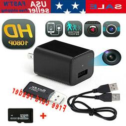 Mini Charger Camera 1080P Full HD 32GB Card Camcorder Securi
