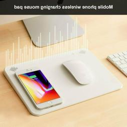 Multifunction 4In1 Wireless Bluetooth Charging Mouse Pad Cha